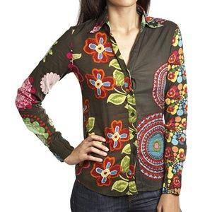 Desigual Damen Long Sleeve Button Down Shirt